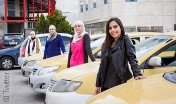 SheCab تاكسي للنساء في الأردن وسط رفض مجتمعي - السائقات