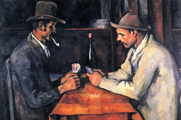 لوحة لاعبي الورق للرسام بول سيزان