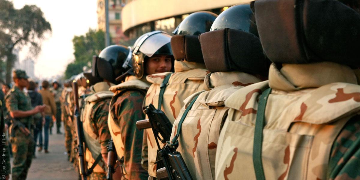 العسكر في السلطة المصرية يتغلغل في كل مفاصلها - صورة لعناصر من الجيش