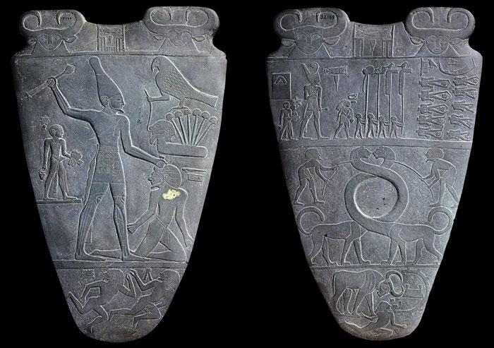 تاريخ الأحذية - Narmer_Palette
