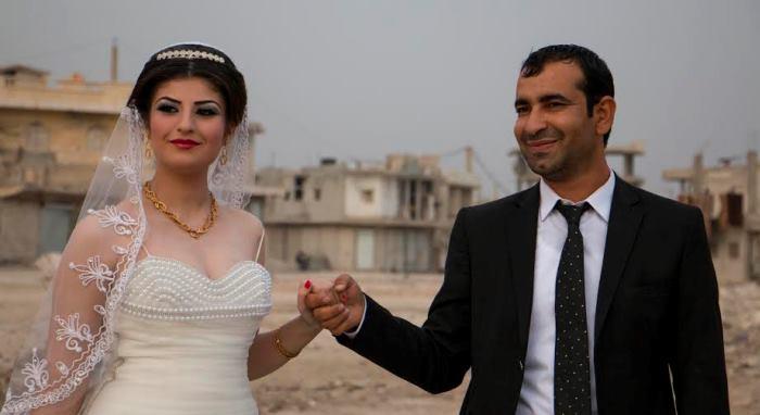 أول زواج مدني في كوباني
