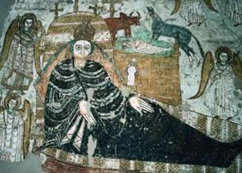 الأقباط السودانيون - جدارية-تصور-المسيح-عند-النوبة