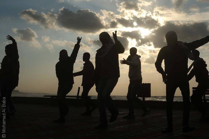 صور من غزة - مغيب الشمس في غزة