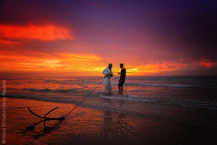 صور من غزة - صيادين