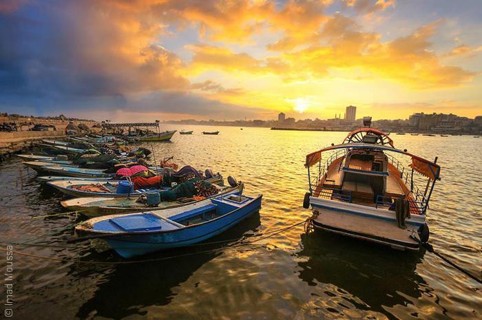 صور من غزة - مراكب الصيادين