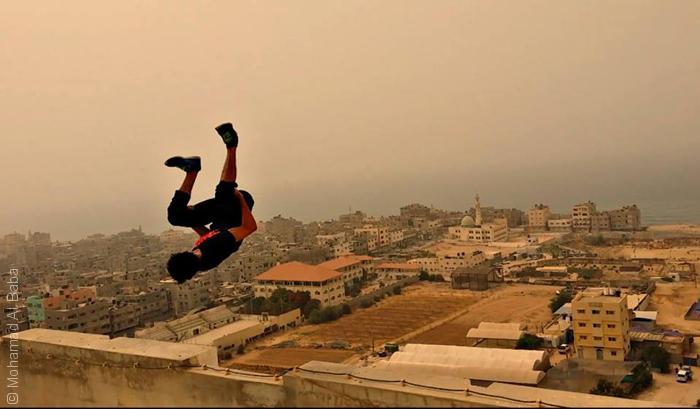 صور من غزة - رياضة القفز