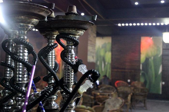 المقاهي في غزة - أراجيل
