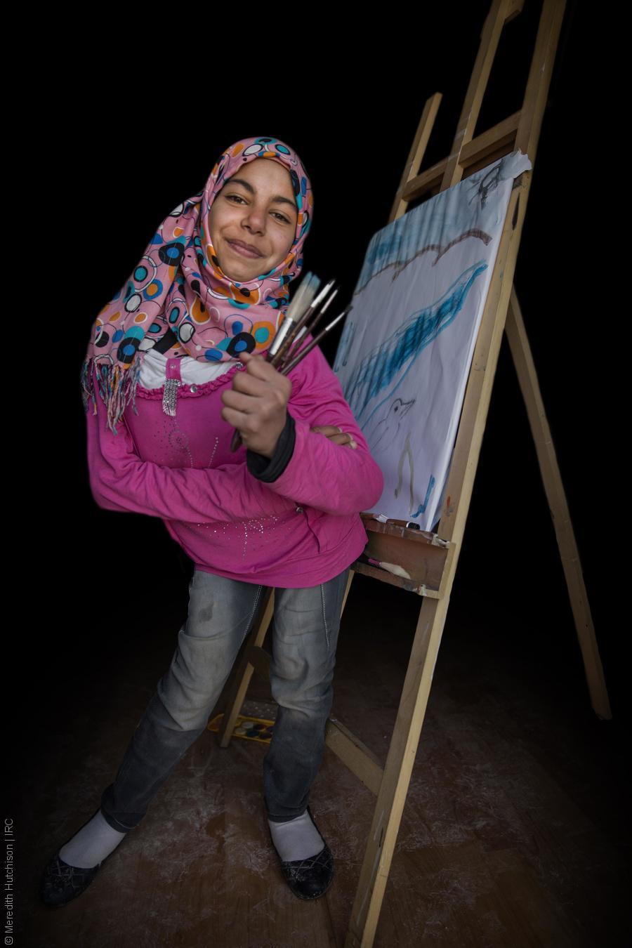 فتيات لاجئات - مروة