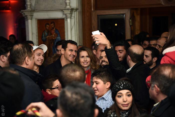 السياسيين العرب والسيلفي - اسماء الأسد