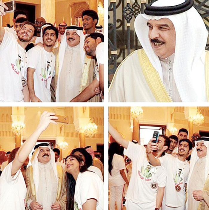 السياسيين العرب والسيلفي - ملك البحرين