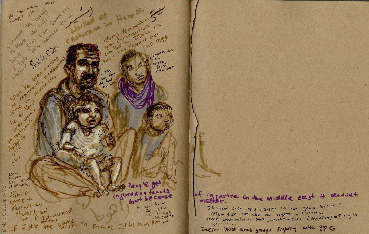 طريق البحر إلى أوروبا - عائلة سورية