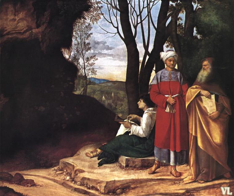 ابن رشد - لوحة الفلاسفة الثلاث