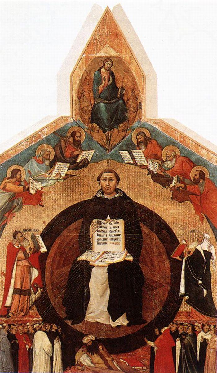 ابن رشد - triumph of st thomas aquinas