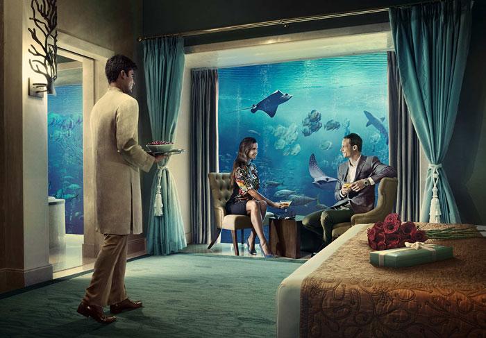 انشطة سياحية في دبي - حوض سمك