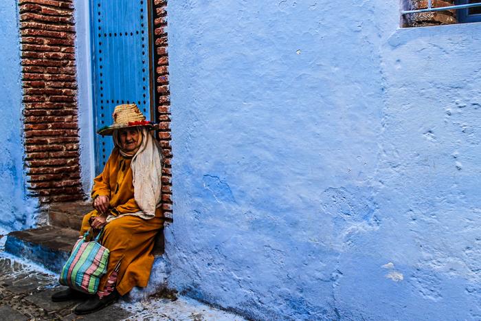 شوارع العالم العربي الملونة - شفشفان الزرقاء