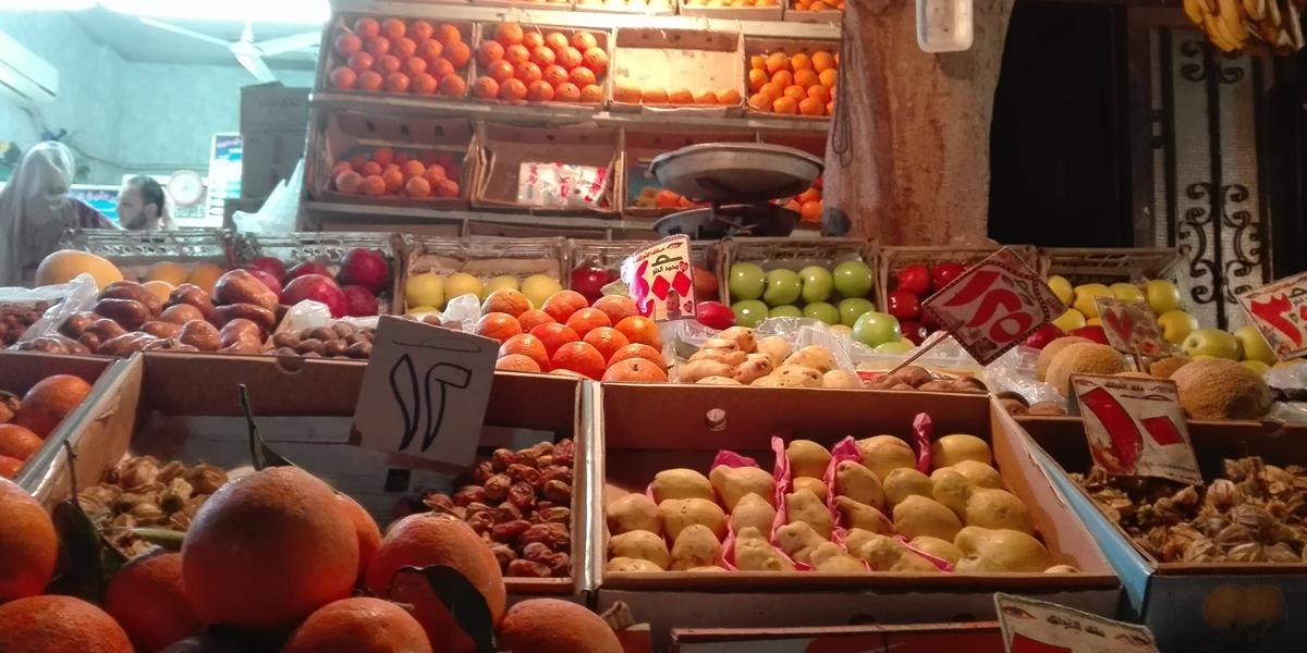 بائع فاكهة مصري قسّم متجره بين الفاكهة والكتب القديمة