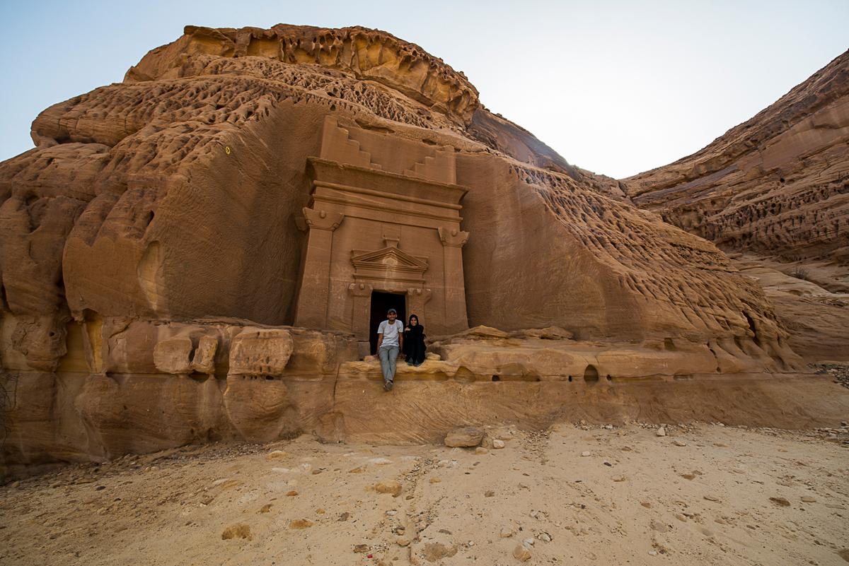 حسين الموسوي ومريم العرب - مكان أثري في السعودية