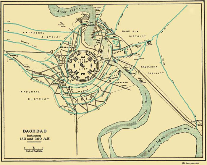 ancientarabic-map-of-baghdad