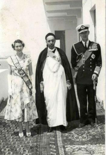 الملكة إليزابيث مع الملك إيدريس
