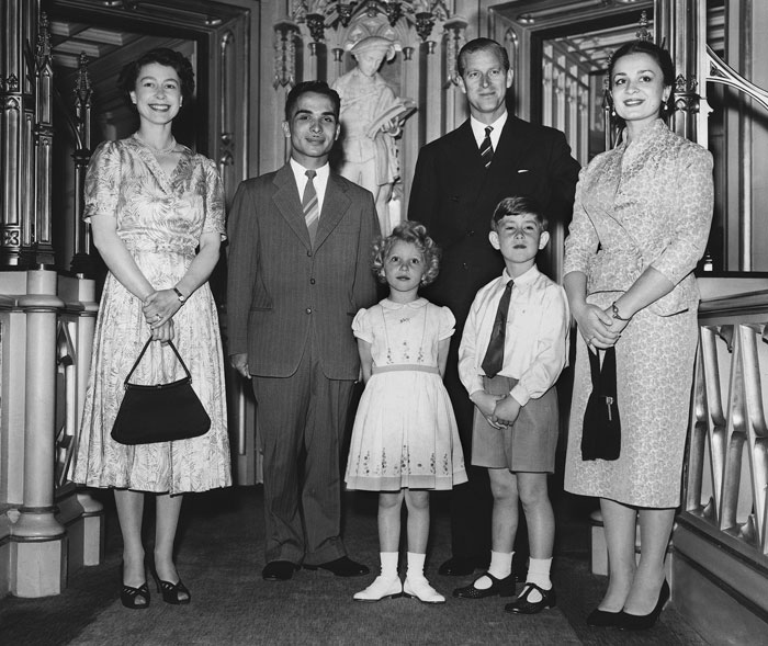 Queen-Liz-with-King-Hussein-of-Jordan