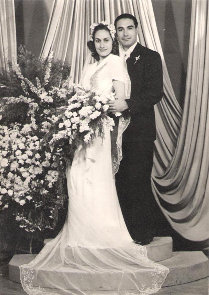 صورة من عرس جدتي وجدي في 29 أكتوبر، 1946