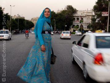 في مصر، أنتِ مغتربة... يعني أنكِ مستباحة