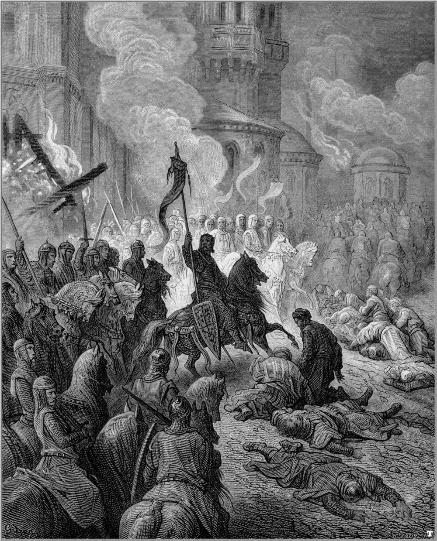 كيف سارت الحملات الصليبية على المشرق الإسلامي؟ Gustave_dore_crusades_entry_of_the_crusaders_into_constantinople