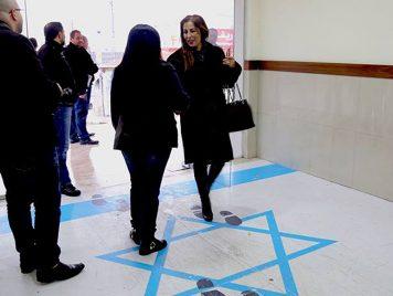وزيرة أردنية تدوس العلم الإسرائيلي...وتل أبيب تحتج
