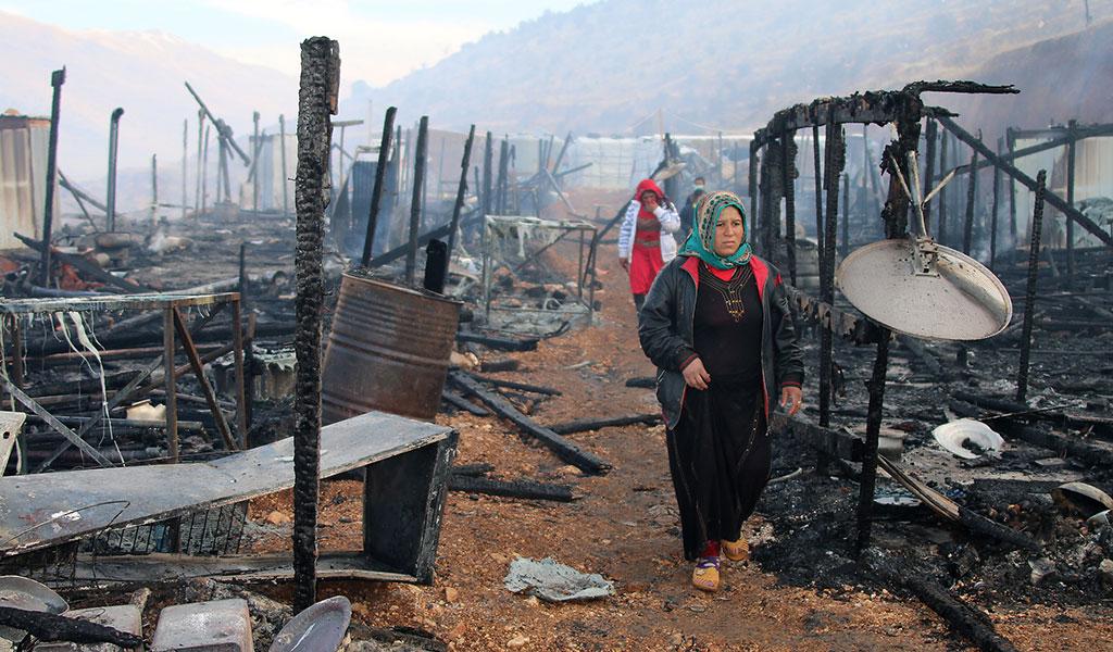 وفاةلاجئَيْنسوريَيْن حرقاً في لبنان