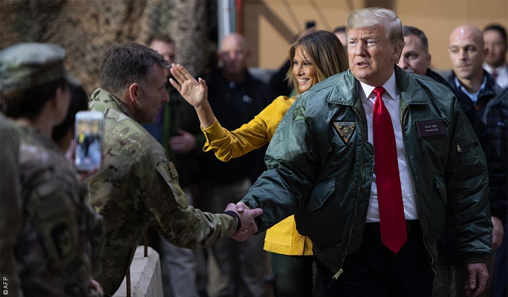 بطائرة مطفأة الأنوار..ترامب يصل العراق لتفقد قواته وسط تنديد شعبي وسياسي