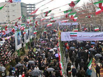 """الشعب الإيراني في احتفالية عيد الثورة الأربعين: """"لدينا شكوى"""""""
